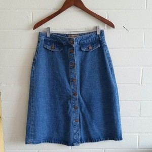 Zara Denim Skirt Blue Denim