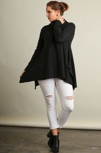 Umgee Long Sleeve Plus Size Sweater