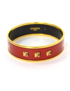Hermès Hermes Wide Printed Enamel Bangle Sz 65