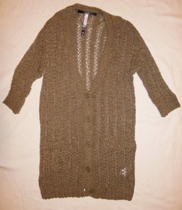 Kensie Buttons Cardigan Pockets Sweater