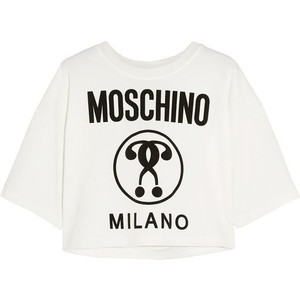 Moschino Couture Cotton Designer T Shirt White/Black