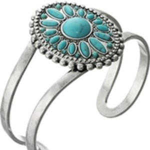 Lucky Brand Lucky BrAnd Silver Turquoise Cuff
