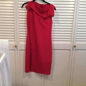 Elie Tahari short dress Red orange on Tradesy
