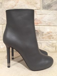 Chanel Lambskin Leather Classic Cc grey Boots
