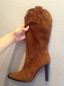 Laundry by Shelli Segal Suede Leather High Heel brown Boots