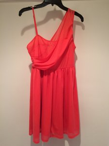 MM Couture Coral Cocktail Party Sleeveless Holiday New Years Dress