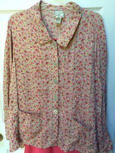April Cornell Floral Flowy Cardigan