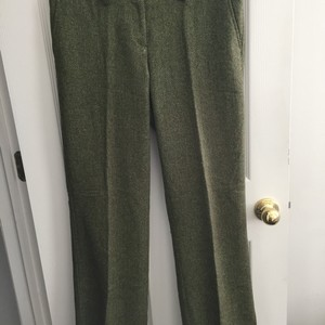 The Limited green and brown herringbone pants size 8 Trouser/Wide Leg Jeans