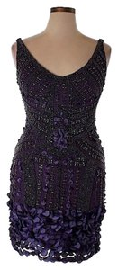 Theia Beaded Embellished Flapper Bodycon Vintage Dress
