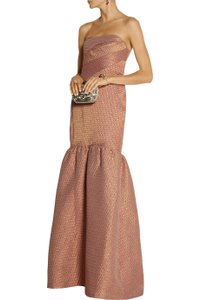 Marchesa Notte Evening Strapless Brocade Dress