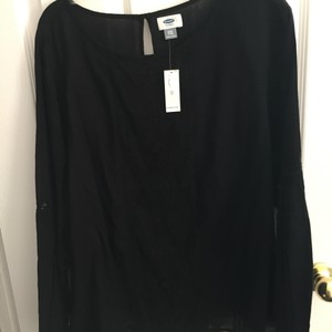 Old Navy Black lace crewneck top size 2XL Top