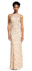 Adrianna Papell Blush, Silver, Nude, Beaded Blush, Silver, Nude, Beaded Long Beaded Dress Style Dress