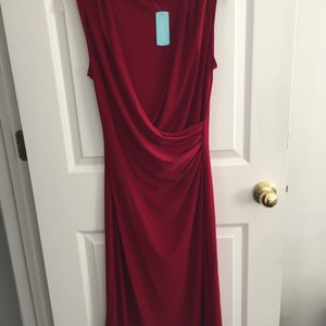 Maxi Dress by Forever 21 red wrap dress size large