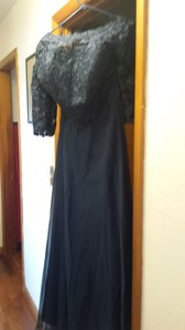 Navy Blue A Line Princess Jewel Dress