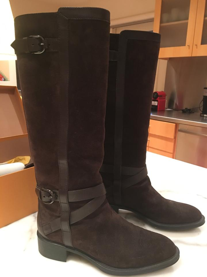 Tod's Tod's Tod's Chocolate Brown Italian Dark Suede Rubber Soles Boots/Booties 15b214