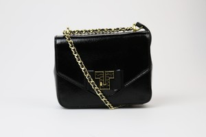 Tory Burch Chain Ribbon Gold Cross Body Bag