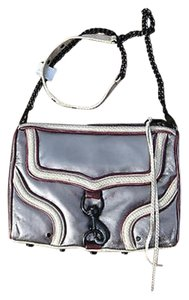 Rebecca Minkoff Designer Metallic Silver Pewter Wine Mac Bombe Rare Shoulder Bag