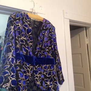 Céline Top Blue black & gold