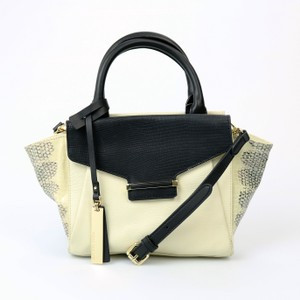 Vince Camuto Leather Satchel in Snow