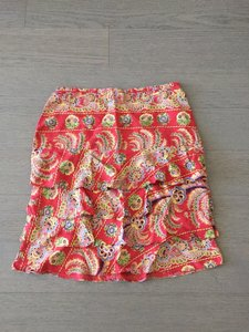 Tocca Silk Skirt Red/Floral