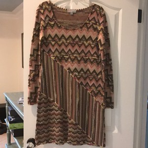 M Missoni short dress Pink and brown multi on Tradesy