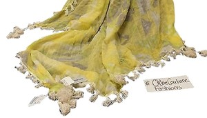Madewell ,Madewell,Designer,Neon,Yellow,Green,Tassel,Fringe,Summer,Thin,Cotton,Scarf