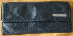 Kenneth Cole Reaction Black Patent Leather Organizer Wallet