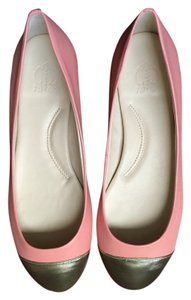 C. Wonder C. Ballet Leather Pink Peach and Gold Flats
