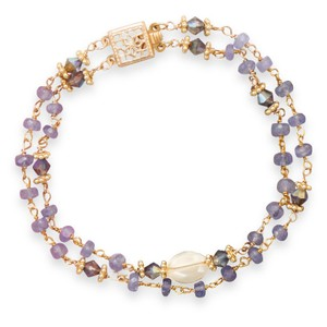 Tanzanite and Citrine Bracelet