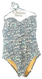 J.Crew ,J.crew,Designer,School,Of,Fish,Nautical,Blue,White,One,Piece,Swimsuit