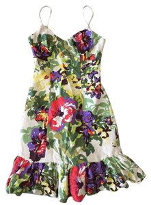 Plenty by Tracy Reese short dress Multi-Color Floral Silk on Tradesy