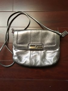 Coach Small Silver Cross Body Bag