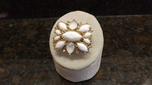 Dillard's Great Dillard's Ring with White and Clear Stone, Neat Design!