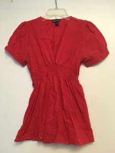 Wet Seal Holiday Bow Valetines Day Top Red