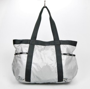LeSportsac Silver Hardware Gray Diaper Bag
