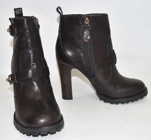 Tory Burch Riding Combat Moto Biker BLACK Boots