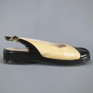 Chanel Patent Leather Italy Platform Black Flats