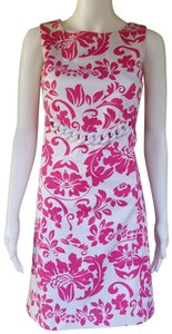 Jade by Melody Tam short dress Pink Cotton Sheath Floral Sleeveless on Tradesy