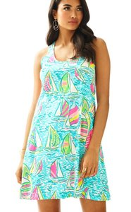 Lilly Pulitzer short dress Blue You Gotta Regatta Ugotta Regatta Melle on Tradesy