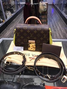 Louis Vuitton Satchel in brown/lime green