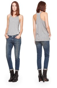 Paper Denim & Cloth Weekend Boyfriend Faded Casual Capri/Cropped Denim-Medium Wash