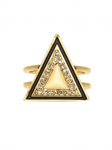 House of Harlow 1960 House of Harlow 1960 Teepee Triangle Cocktail Ring