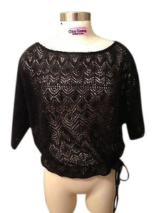 Denim & Supply Ralph Lauren Knit Crochet Crop Shirt Sweater