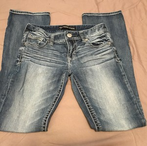 Express Size 2 Straight Leg Jeans