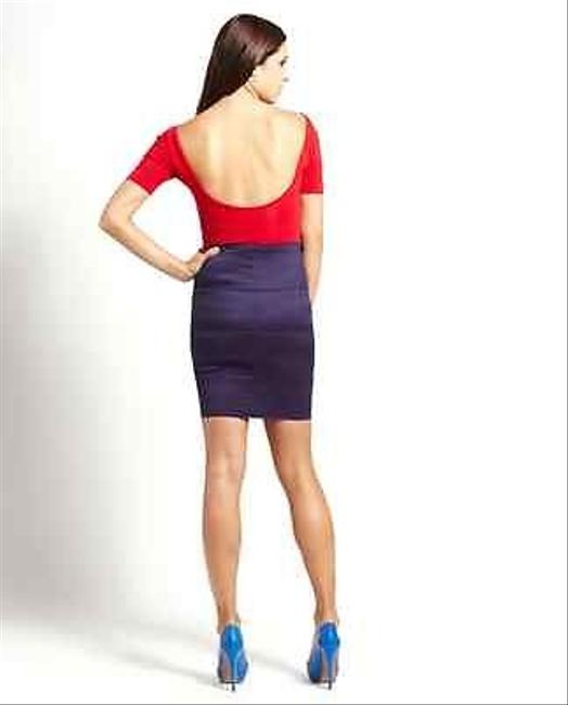 Pleasure Doing Business Bn Nautical Red High Waisted Bandage Skirt Blues