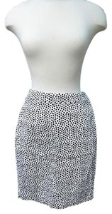 J.Crew Factory Designer Polka Dot Navy Pencil 0 Skirt Whites