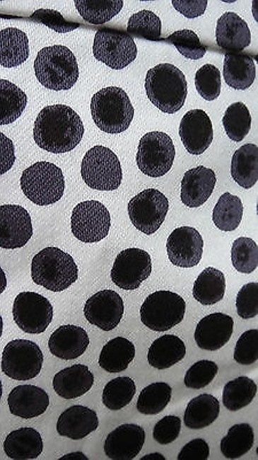 J.Crew Factory Designer Polka Dot Navy Pencil Skirt Whites Image 2