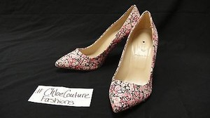 J.Crew Everly Pink Floral London Liberty Art Heels 48015 Purple Pumps