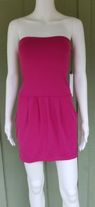Susana Monaco short dress Fuchsia Pink Mini Stretch Strapless Fuchsia Bodycon on Tradesy