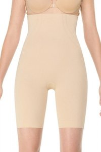 Spanx NEW Spanx LUST HAVE High-Waisted Mid-Thigh Shapewear Nude 2X 1921P